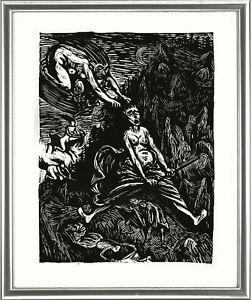Ernst-Barlach-1870-1938-Holzschnitt-Woodcut-034-Hexenritt-Witch-Ride-034-1923