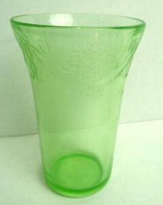 Depression-Era-Green-Glass-Tumbler-Iced-Tea-Water-5-034