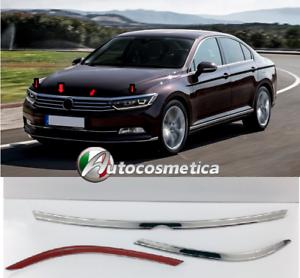 Modanature VW PASSAT B8 2015 /> tutti modelli 3 Cromature Adesive Cofano Fanali