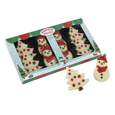 X2 White Chocolate Figures Christmas Pack - Delicious Gift!!