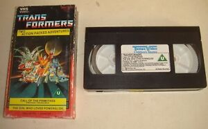TRANSFORMERS-Call-of-The-Primitives-amp-The-Girl-Who-Liked-Powerglide-VHS-1988