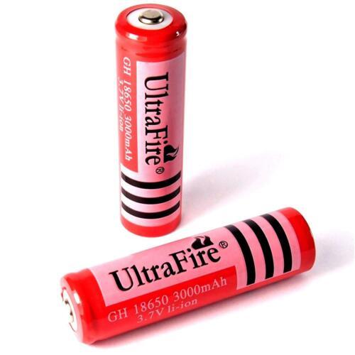 Typ GH 18650 Li 2 x Ultra Fire 3000 mAh Lithium Ionen Akku 3,7 V ion