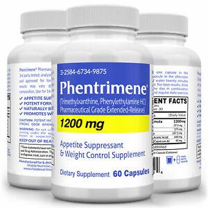Phentrimene 1200mg Maximum Weight Control Complex Appetite Suppressant 37.5