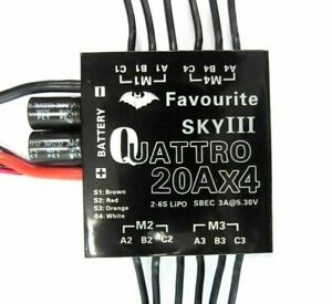 20 AMP FOUR in ONE BRUSHLESS MULTICOPTER ESC OR DRONE