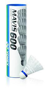 Yonex Mavis 600 Nylon Plastik Federball Badmintonball Farbe weiß/blau -NEU