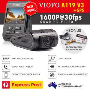 Viofo-A119-V3-QuadHD-2560-1600P-30FPS-GPS-HW-Kit-amp-Bonus-32GB-New-2019-Model
