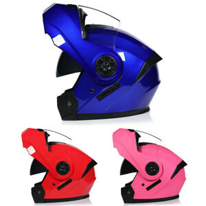 DOT-Motorcycle-Helmet-Flip-Up-Modular-Helmet-Full-Face-Dual-Visor-Motocross-Race