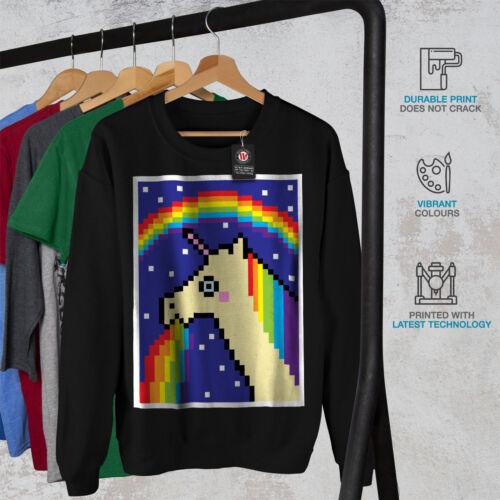 Sweatshirt Funny New Cool Stupid Black Unicorn Men w1PIvnq
