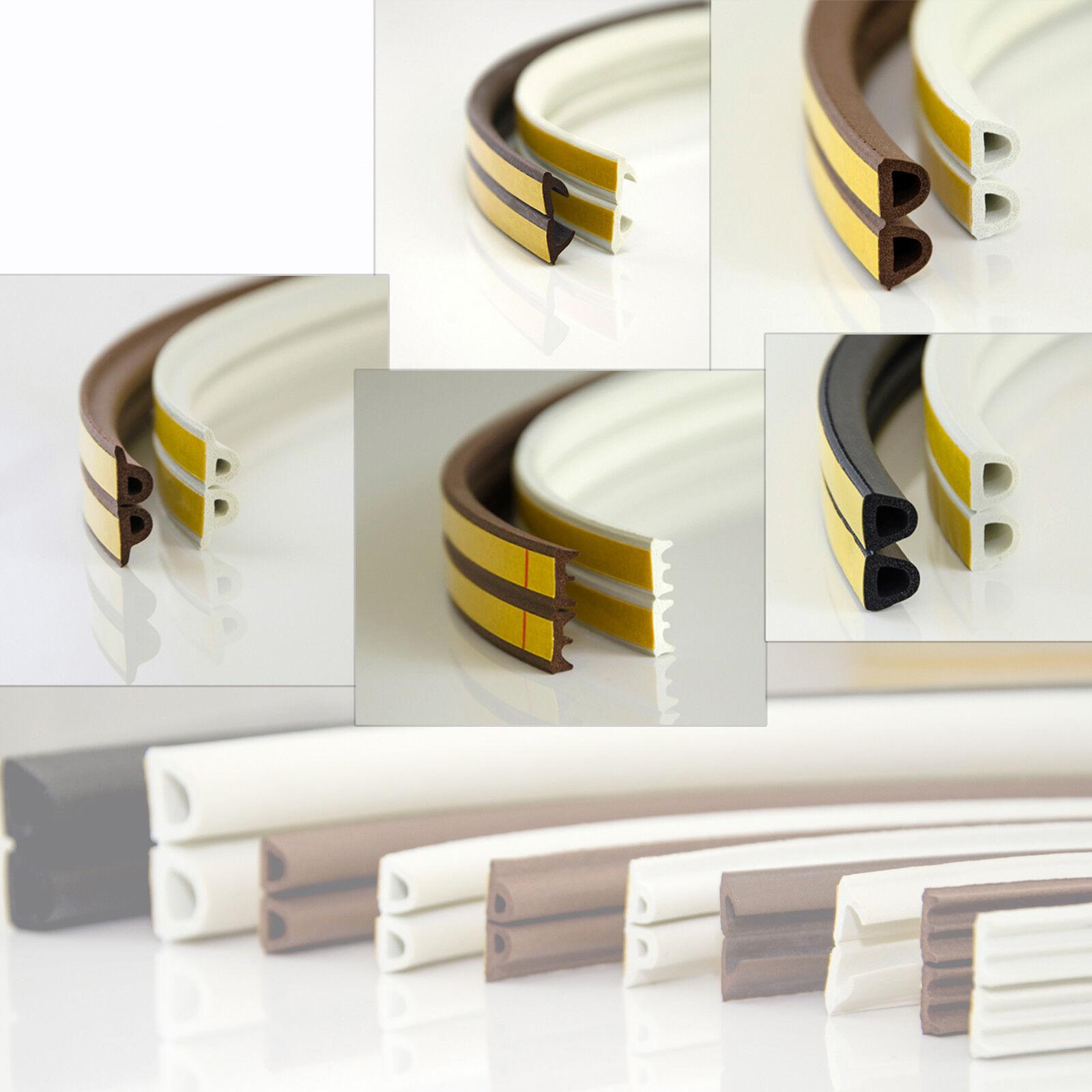 1m - 100m Gummidichtung Fensterdichtung selbstklebend Profil EPVD Gummi Dichtung