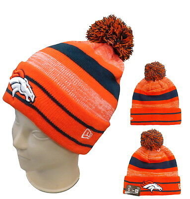 reputable site c6d10 a45cc NEW ERA BEANIE CUFFED NFL BRONCOSLOGO KNIT HAT ADULT SIZE LICENSED W  HOLOGRAM