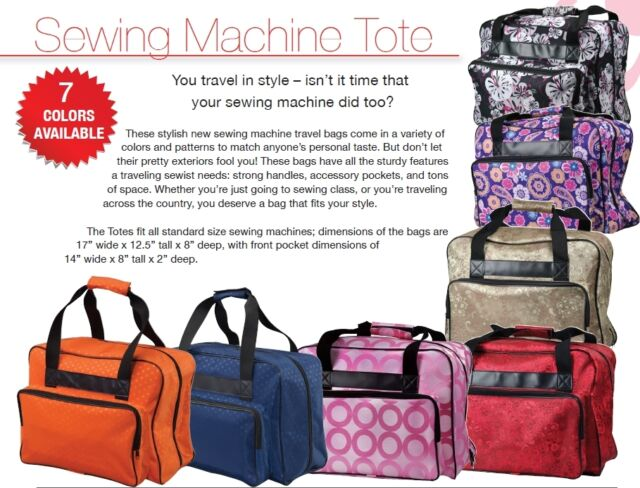 Janome Sewing Machine Case Tote in Various Colors New