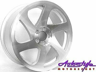 17 inch 3SDM Twist Silver Alloy Wheels - 5-114pcd - sold as a set of 4 -Fits Most-Toyota professiona