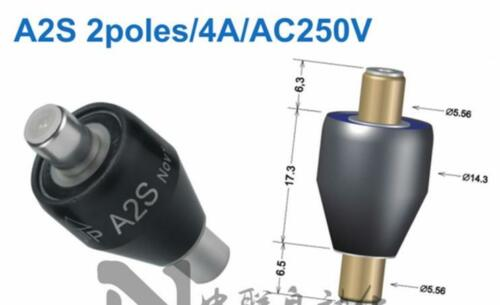 A2S+A2S-2+A2S-5 Mercury conductive slip ring 2 Wires 4A #F4760 CY