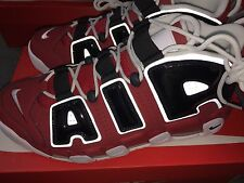 Nike Air More Uptempo '96 2017 Red/Black 921948 600 Pippen Mens size 13 NEW