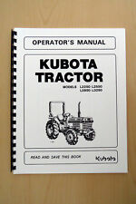 Kubota L3200 & L3800 Tractor Operator's Manual for sale