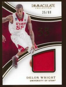 official photos 7143e 6493f Details about 2016-17 Immaculate Collection College Delon Wright Jersey  Relic 25/99