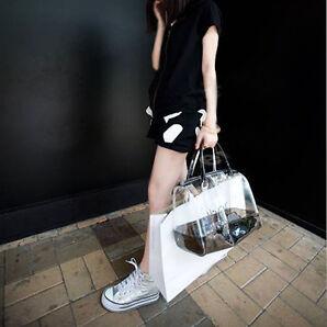 Damen Schultertasche Strandtasche mit Handtasche Clutch Transparent Tasche Mode