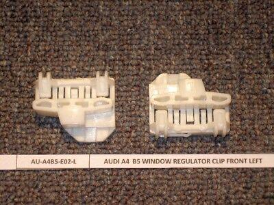 VW Passat Window Regulator Repair Clips FRONT Left PAIR with 2 Door FASTENERS