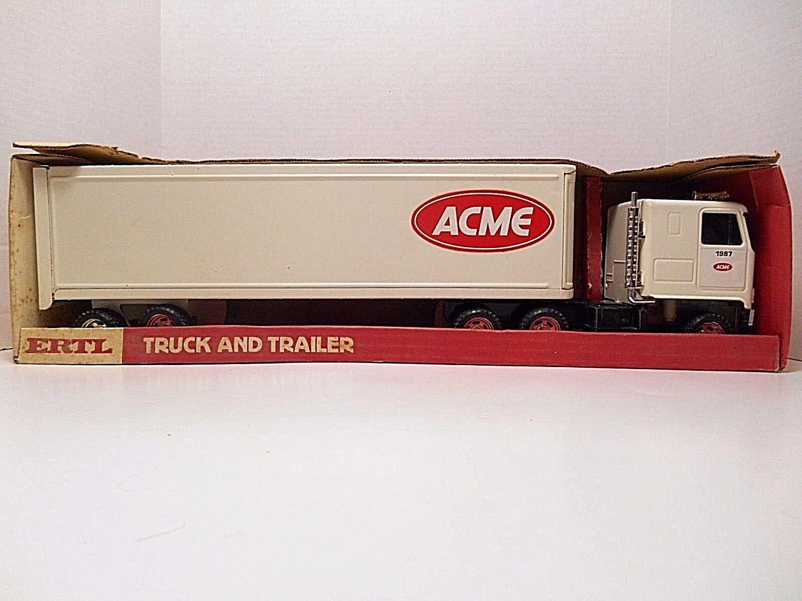 1987 Remolque GMC Truck Y Ertl  -  ACME  con Caja  acero prensado