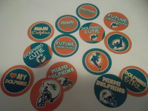 Pre Cut One Inch Bottle Cap Images Miami Dolphins Cutie Free Shipping