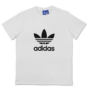 Details about Adidas Originals Trefoil Tee Men Summer Shortsleeve Casual Vintage Shirt White L