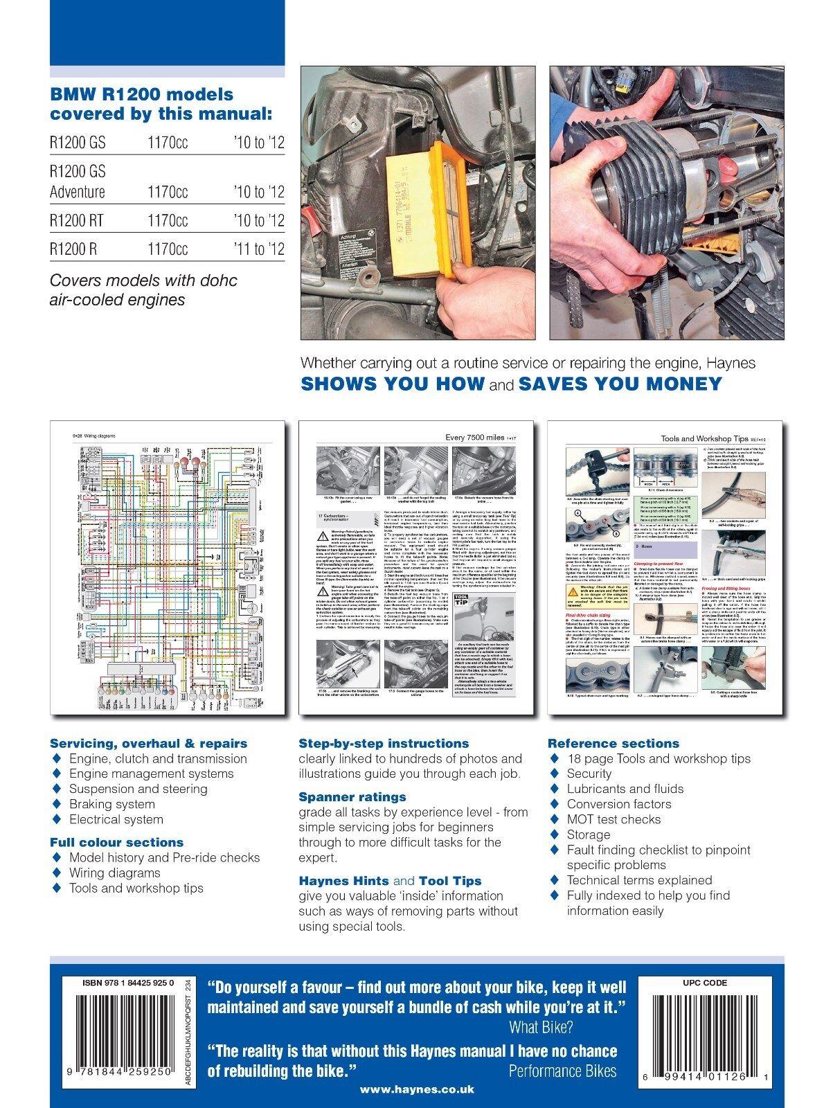 4925 Haynes Bmw R1200 Dohc 2010 2012 Workshop Manual Ebay 84 Shovelhead Wiring Diagram Diy Norton Secured Powered By Verisign