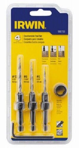Countersink Wood Drill Bit Set Speedbor Irwin 4 Piece