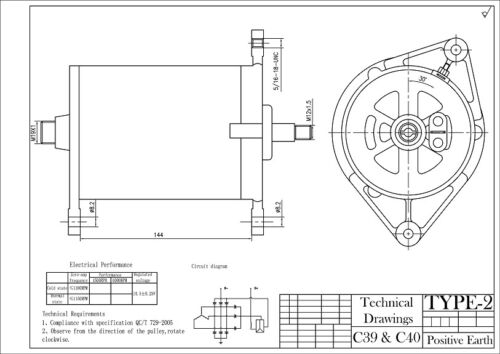 Dynamo Conversion Lucas C39 C40 Tacho Drive Dynamator Alternator EARTH