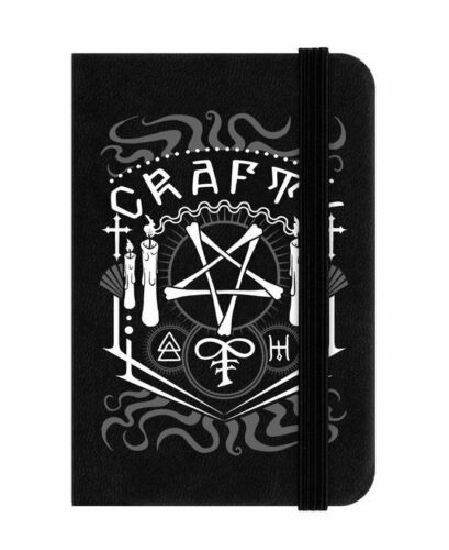 Crafty Witchy Mini Black Notebook Pagan Gothic Gift Pentagram Occult Spells