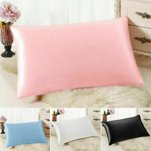 Soft-Pure-Mulberry-Silk-Pillowcase-6-colors-Luxury-Pillow-Case-Bedding-Decor-New