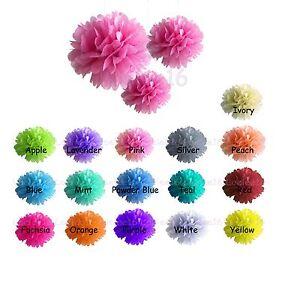 6-Pcs-Paper-Pom-Poms-8-034-10-034-15-034-Wedding-Party-Home-Hanging-Decoration-Flowers