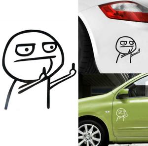Schwarz-Stinkefinger-Humor-Meinung-Mittelfinger-Auto-Aufkleber-Tuning-Sticker