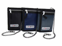 MENS BOYS TRIFOLD SPORTS WALLET WITH CHAIN CREDIT CARD HOLDER COIN POUCH