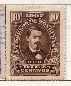 100% De Qualité Honduras 1907 Early Question Fine Comme Neuf Charnière 10 C. 175754-afficher Le Titre D'origine