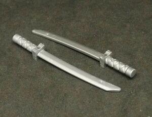 Lego 100 New Pearl Gold Minifigure Weapon Swords Shamshir Katana Square Guard