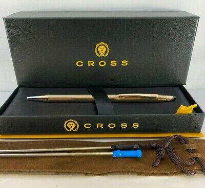 Cross Classic Century 14 Karat Gold Filled Rolled Gold  Ballpoint Pen 1502 NEW
