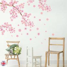 3D Pink CHERRY BLOSSOM WALL Sticker Art Home Decor Graphic Flowers Petals  Tree