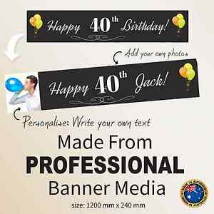 Image Is Loading 40th Birthday Decorations Amp Supplies Personalised Canvas Party