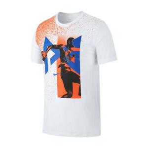 new concept 4de47 1237a Details zu Nike Dri - Fit Pg T-Shirt Herren Weiß Grafik Rundhals Active  Wear Aj9692-100