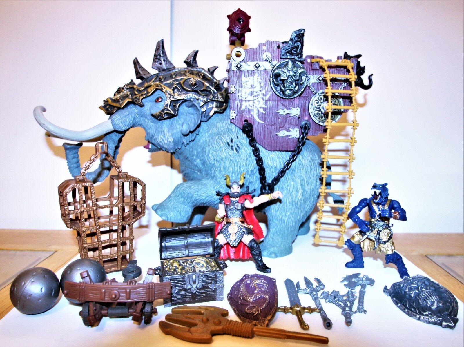 CHAP Mei Vikingos Vikingos Vikingos Tusker Rider Elefante-Mammoth figuras raras con sonidos armas  Mercancía de alta calidad y servicio conveniente y honesto.