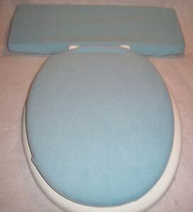 Pleasing Details About Solid Light Blue Fleece Elongated Toilet Seat Lid And Tank Lid Cover Set Dailytribune Chair Design For Home Dailytribuneorg