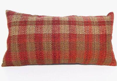 "Antiques Handmade Turkish 24""x12"" Pillow Case Kelim Rectangle Kilim Cushion Wool Area Rug 50% OFF"