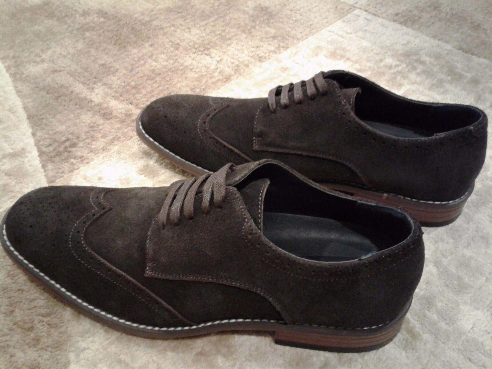 Joseph Abboud Evan Chocolate Brown Suede wingtip shoes shoes shoes 8 8.5 9 9.5 10 10.5 11 13 8c579e