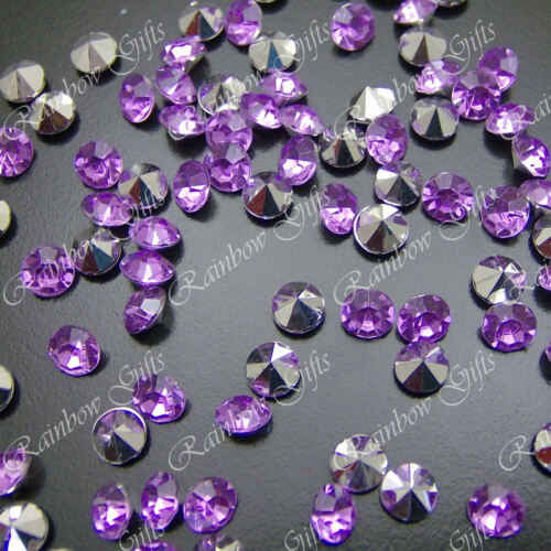 6mm POINTED RHINESTONES 100 250 500 or 1000 WEDDING TABLE DECORATIONS