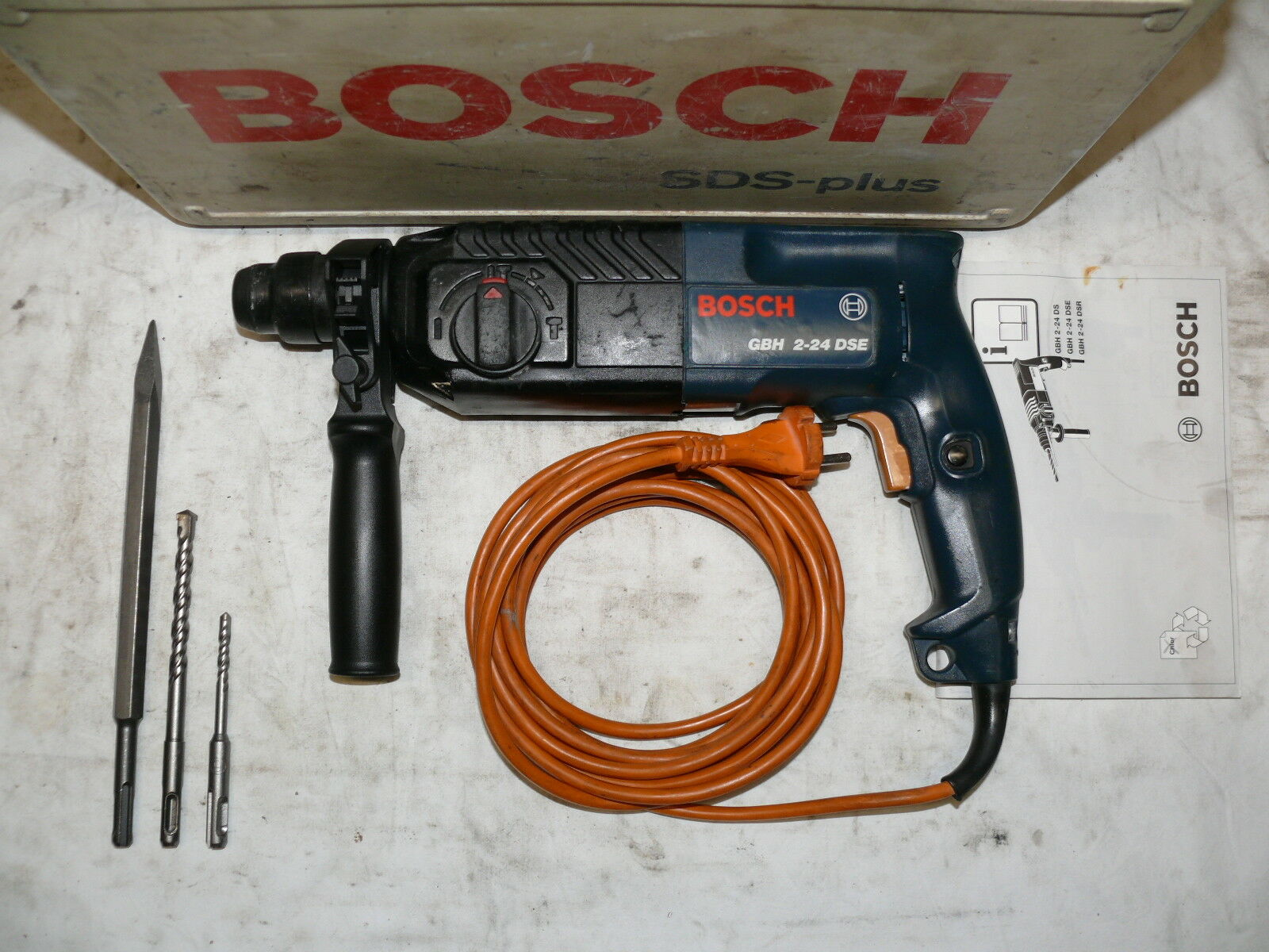 Bosch GBH 2-24 DSE BOHRHAMMER MEIßELHAMMER KOMBIHAMMER STEMMHAMMER ähnl. 2-26