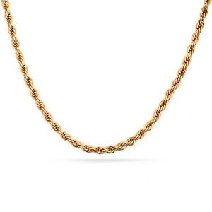 18k-Gold-F-60cm-24-039-039-Necklace-Thick-3mm-Solid-Twist-Wave-Rope-Chain-AUS-MADE