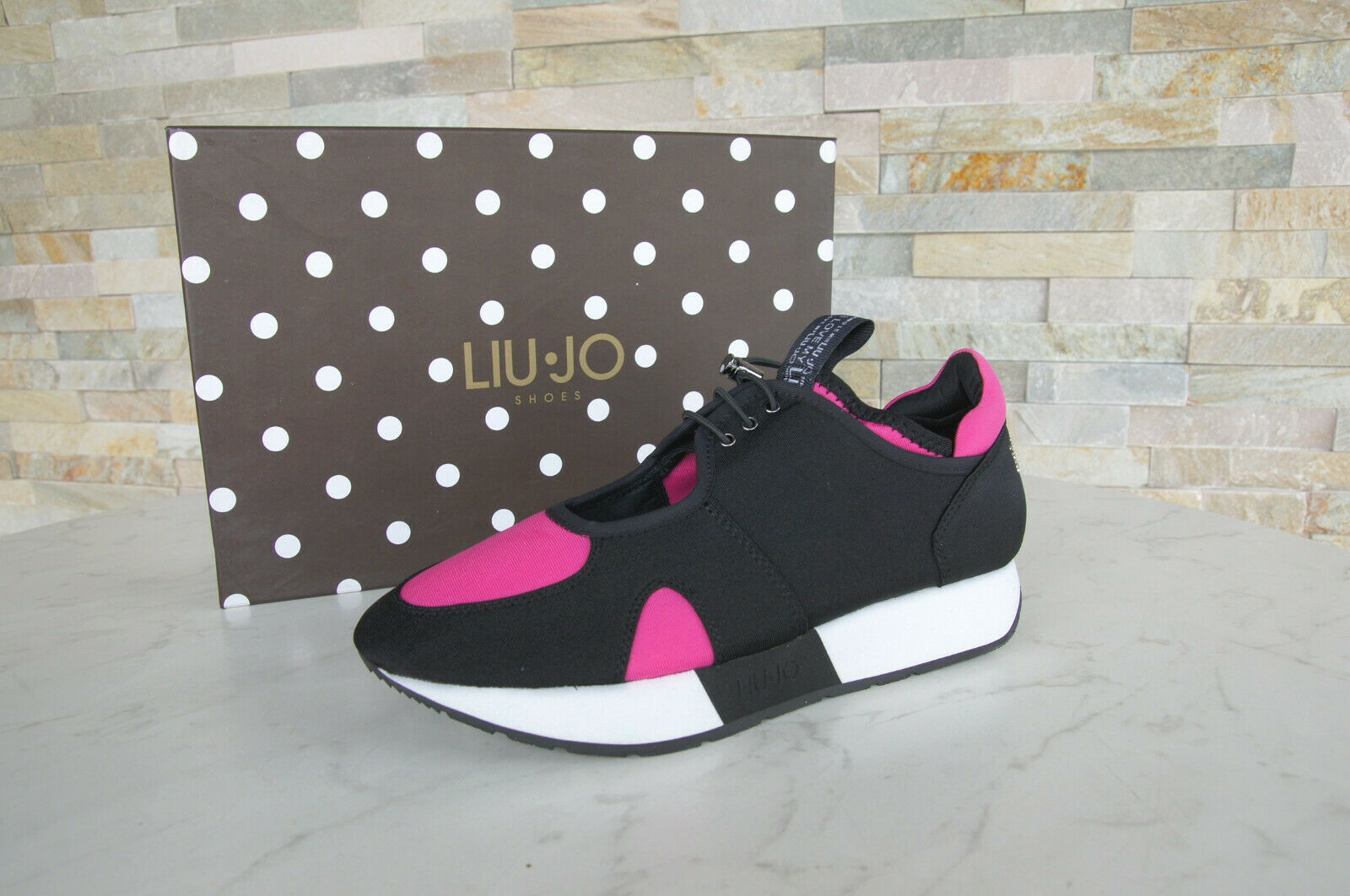 Liu Jo Size 37 Sneakers Low shoes shoes shoes Slip on shoes May Black Pink New Ehemuvp bdce25