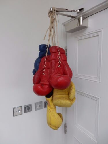 1960s COLOURFUL TRIO OF BOXING GLOVES adult Kitsch decor great gift solution