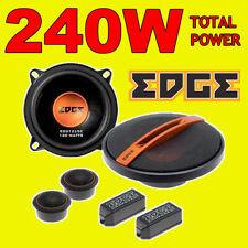 EDGE 240W TOTAL 2WAY 5.25 INCH 13cm CAR DOOR 2WAY COMPONENT SPEAKERS + TWEETERS