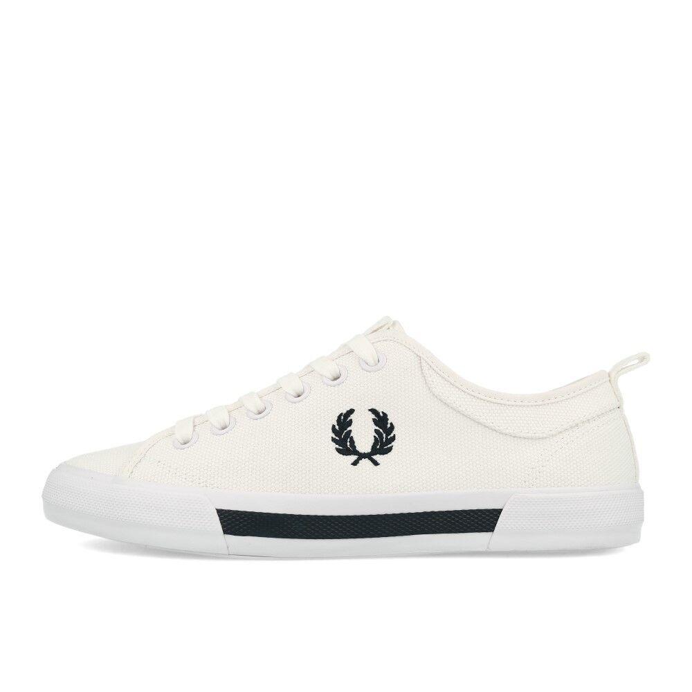 Fred Perry Horton Canvas White Schuhe Sneaker Weiß Schwarz